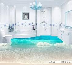 tapeten badezimmer 3d bodenbelag tapete badezimmer selbstklebende tapete