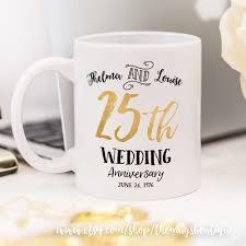 25th wedding anniversary mug customized wedding mug graphic