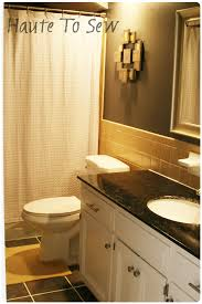 remodelaholic bathroom makeover yellow gray color scheme bathroom makeover yellow gray color scheme