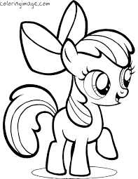 pony coloring apple bloom pony party