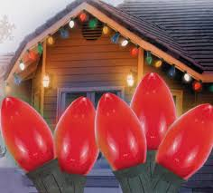 25 ceramic style opaque red led retro style c7 christmas lights