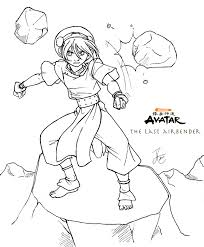 airbender coloring pages airbender party ideas