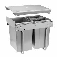 poubelle de cuisine tri s駘ectif 3 bacs poubelle coulissante pour tri sélectif 3 bacs 40 litres practi eco
