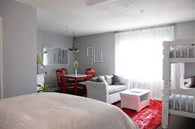 Studio Apartment Ideas For Couples Polished Passion 19 Dashing Bedrooms In Red And Gray