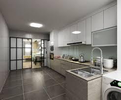 Hdb Kitchen Design This Hdb Kitchen Features A Minimalist Design Swathed In Neutrals