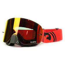 motocross goggle dragon mx new nfx fade red black split ion dirt bike tinted