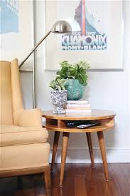 gorgeous diy side table design features square shape wooden side