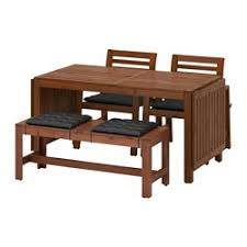 Outdoor Dining Set With Bench Outdoor Dining Furniture Dining Chairs U0026 Dining Sets Ikea