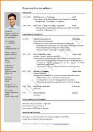 Sample Blank Resume by Resume Template Sample Internship Formal Letter Job With Regard