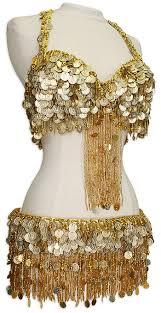 Belly Dancer Halloween Costume Gold Egyptian Coin U0026 Fringe Bra U0026 Belt Belly Dance Costume
