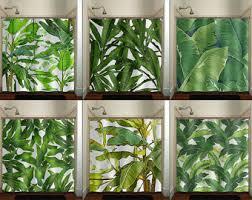 Hawaiian Curtain Fabric Shower Curtains U0026 Rings Etsy Uk