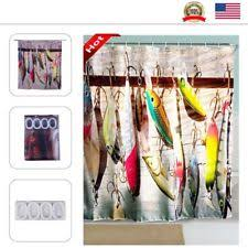 Fishing Shower Curtain Fish Shower Curtain Ebay