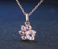 sterling silver necklace jewelry images Sterling silver rose paw necklace helping animals at risk jpg