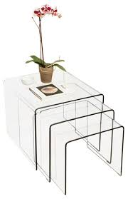 Modern Side Table Charlize 3 Piece Glass Coffee Tables Set Modern Side Tables