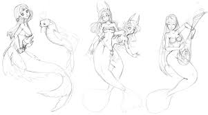 mermaids sketch by seiyachan on deviantart