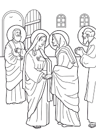 blessed mary coloring pages coloring home