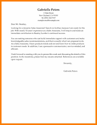 6 sales associate cover letter no experience prefix chart