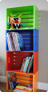 Kid Bookshelves by Diy Bookshelf Made From Crates Kid Bookshelves Boys And Room