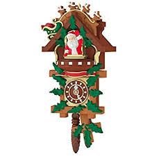 santas magic cuckoo clock 2013 hallmark ornament home