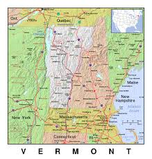 Map Of Vt Detailed Map Of Vermont State With Relief The State Of Vermont