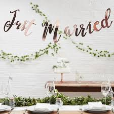 wedding backdrop font gold script font just married wedding bunting by