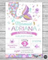 invitations baby u0027s 1st bday pinterest mermaid invitations