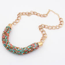 wear collar necklace images Creatively neck wearing chain choker necklaces bead collar jpg