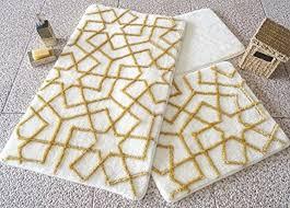 Gold Bathroom Rugs Kosem Gold Bathroom Rugs Set 3 Pieces 24 U0027 U0027x 40 U0027 U0027 20 U0027 U0027x24 U0027 U0027 16