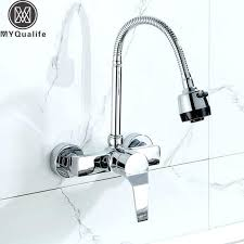 single handle wall mount kitchen faucet wall mount kitchen faucet with sprayer wall mounted sprayer