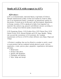 Resume For A Marketing Job by Marketing Strategy Of Lux Soap With Reference To Hul