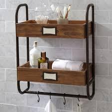 Wood Bathroom Towel Racks Iron Bathroom Towel Rack Hanging Kitchen Shelf Antique Double