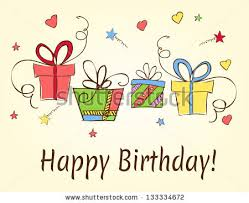 birthday card gift card gifts ideal stock vector 108862061