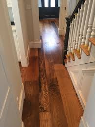 Bona Gloss Floor Finish by Locally Milled Wide Plank Reclaimed Chestnut Flooring Finished