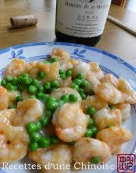 cuisine crevette recettes d une chinoise crevettes sautées aux petits pois 清炒虾仁