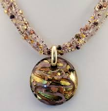 black jewelry necklace images Murano glass black lavender gold pendant murano glass jewelry jpg