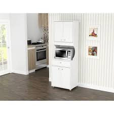small kitchen cabinets walmart inval galley laminate kitchen microwave cabinet open storage white