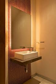 bathroom exciting small modern bathroom decoration using red