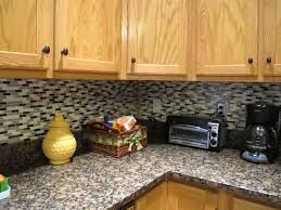 Kitchen Backsplash With Granite Countertops Decor Omicron Granite Countertop With Peel And Stick Tile