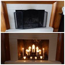 fireplace candle holder diy thesecretconsul com