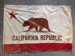 Bear Flag Revolt Nice Vintage Antique California Bear Flag On Stick Bear Flag Museum