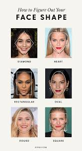 pictures of hairstyles for oblong face shapes how to figure out your face shape once and for all byrdie au