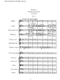 61 by Violin Concerto In D Major Op 61 Beethoven Ludwig Van Imslp