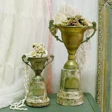 home decor competition vintage competition aged cup award trophies rusted distressed