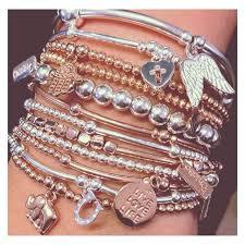 sterling silver rose gold bracelet images 31 best chlobo necklace images bangle bracelets jpg