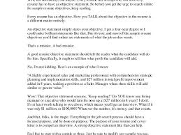 Exles Of Resumes Resume Good Objective Statements For - good objective statement for resume exles of resumes general