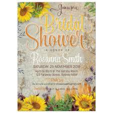 Vintage Bridal Shower Vintage Summer Sunflowers Bridal Shower Invitation