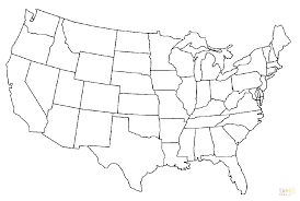 united states map of us capitals major cities and showy usa color
