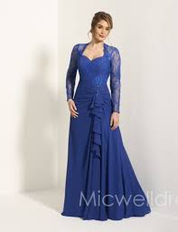 us 189 99 royal blue lace long sleeves chiffon floor length mother