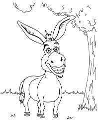 modest donkey coloring page 94 2183