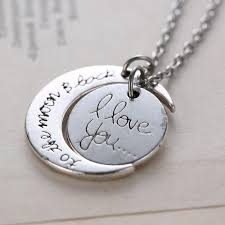 s day charm necklace wholesale s day gifts for lover gold moon pendant charm